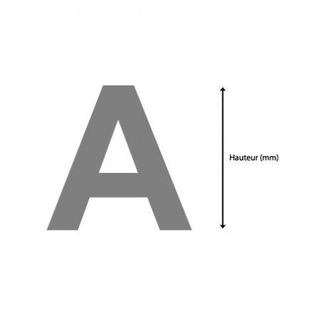 Lettres Arial sur-mesure