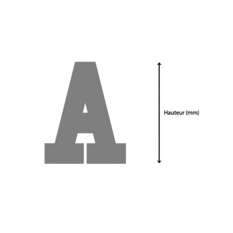 Lettres college sur mesure for Polir aluminium miroir