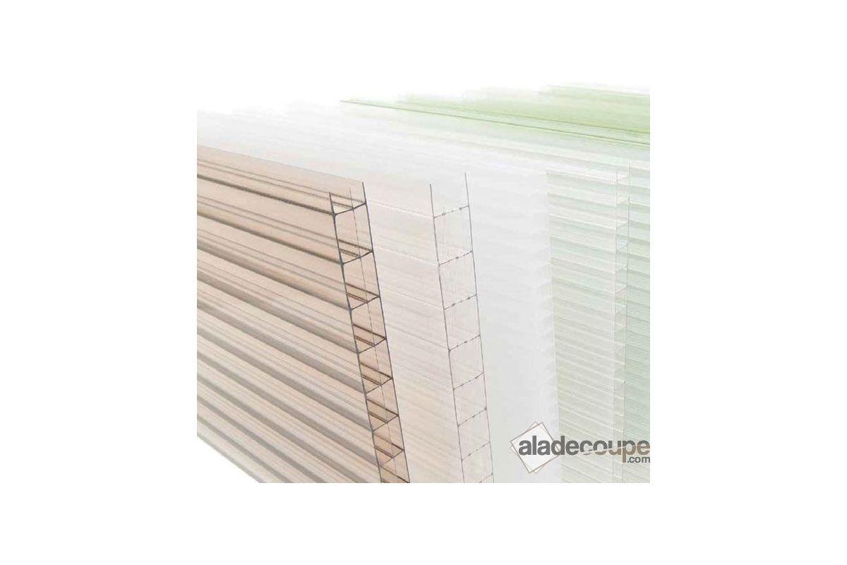 Polycarbonate alv olaire incolore 10mm for Plaque polycarbonate alveolaire prix