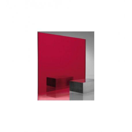 Miroir acrylique rouge 3 mm for Miroir acrylique