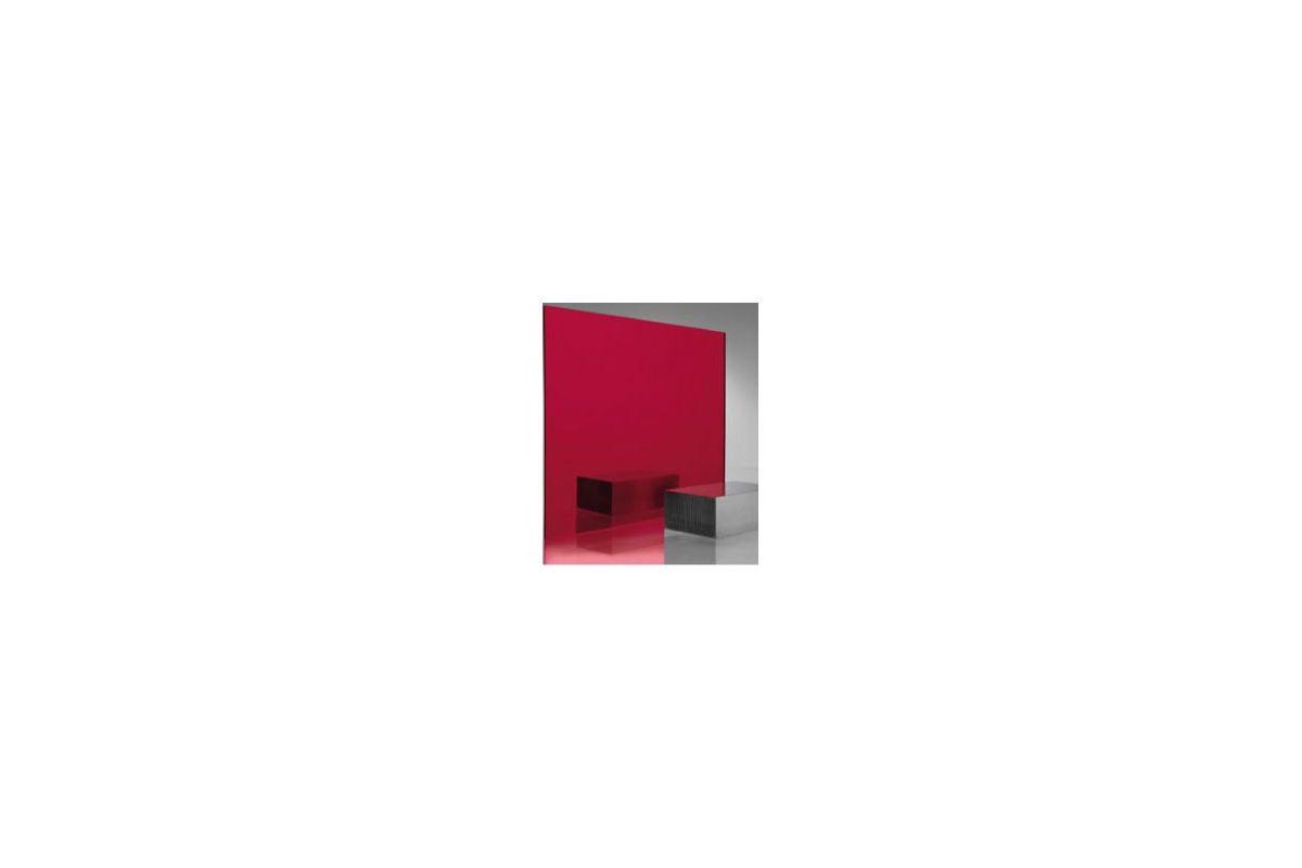Miroir acrylique carr rectangle rouge 3 mm www for Miroir acrylique