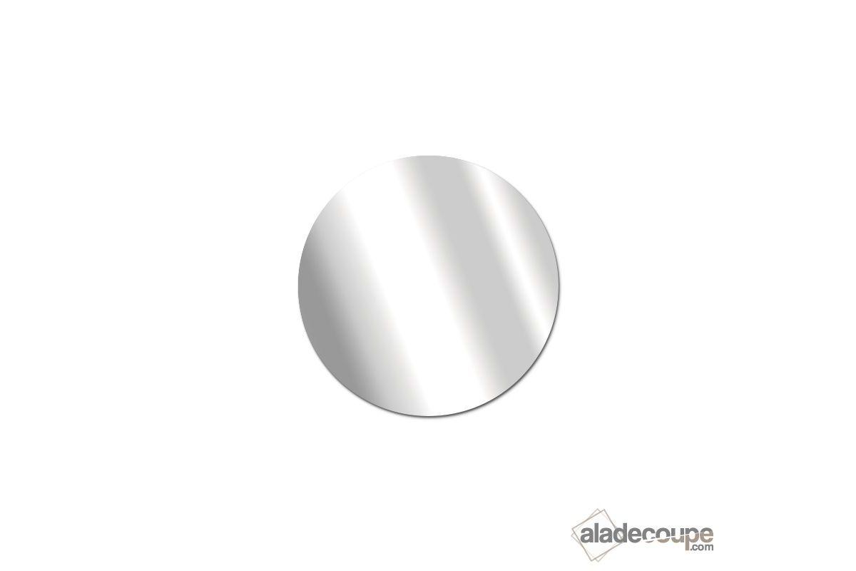 Miroir acrylique rond 3 mm for Coupe miroir sur mesure