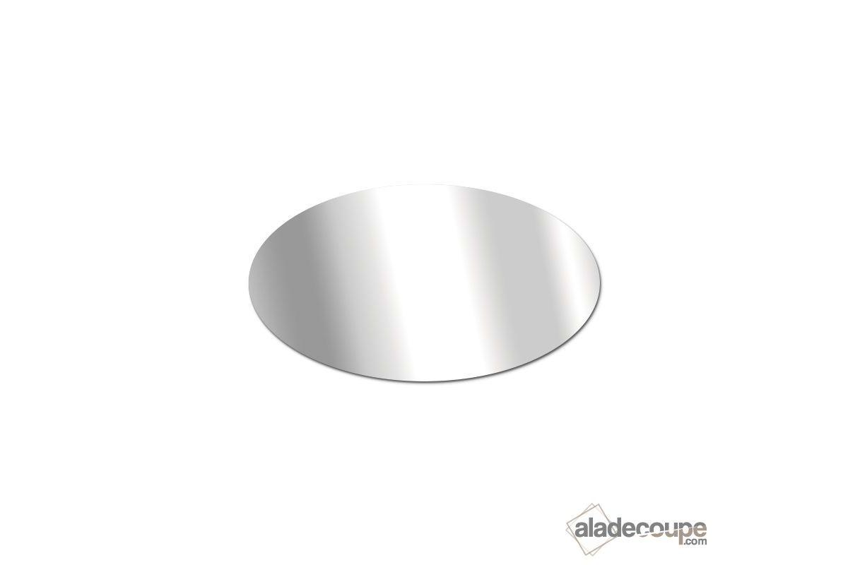 Miroir acrylique ovale 2 mm for Miroir 2 metre