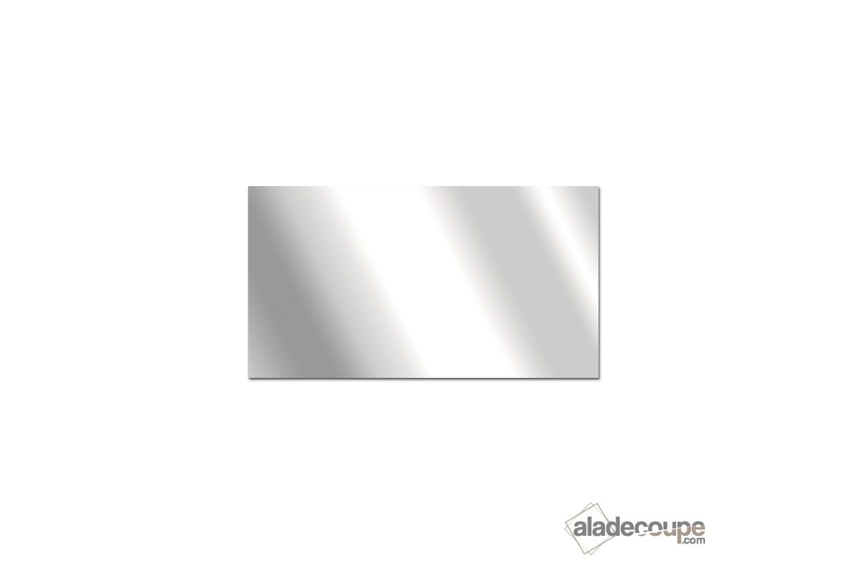 Miroir acrylique carr rectangle 5 mm for Coupe miroir sur mesure