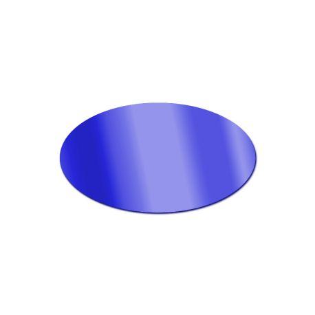 Miroir acrylique Ovale Bleu 3 mm