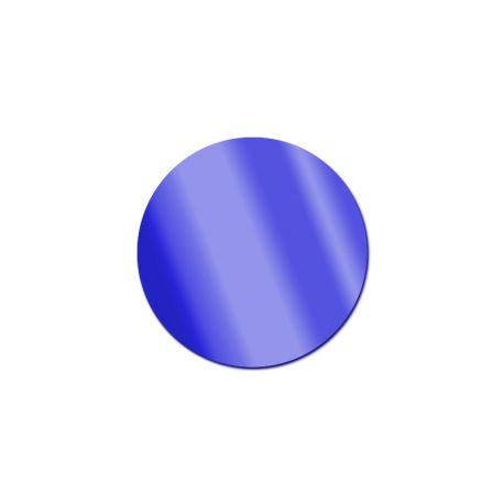Miroir acrylique Rond Bleu 3 mm