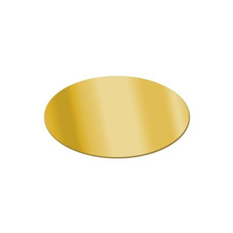 Miroir acrylique Ovale Or 3 mm
