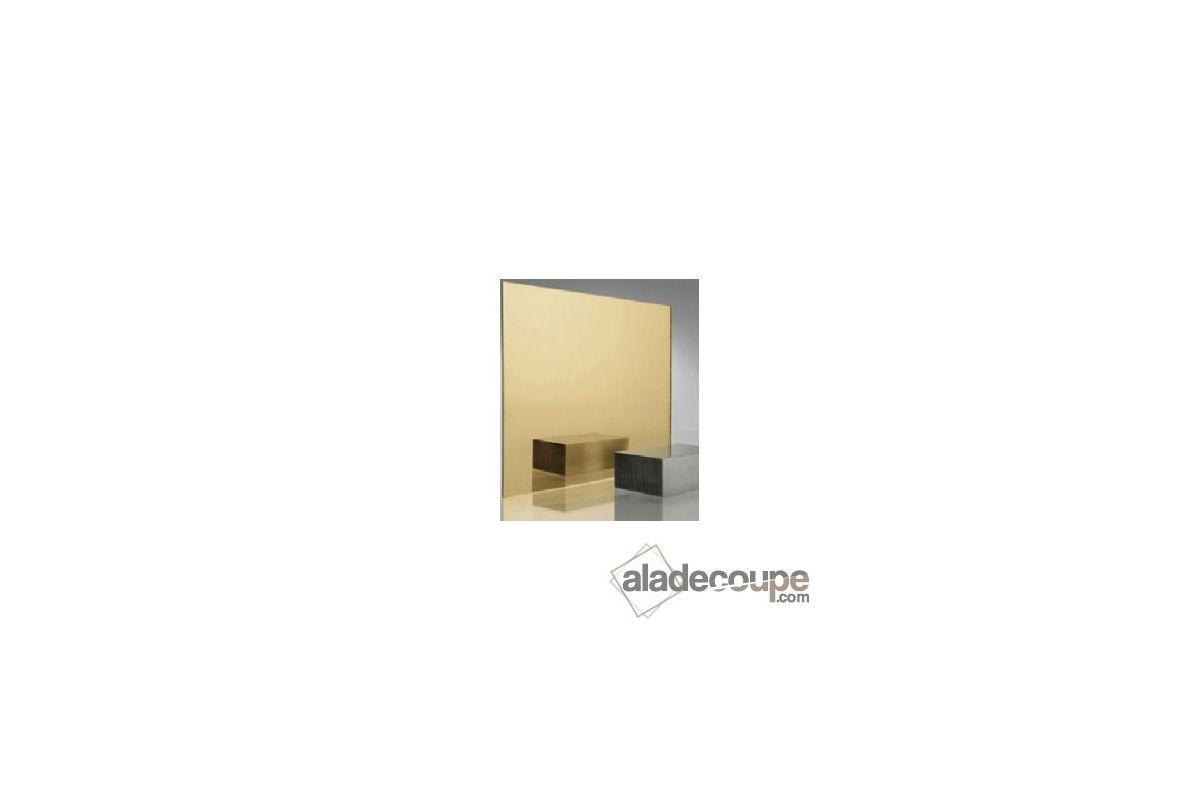 Miroir acrylique ovale or 3 mm for Polir aluminium miroir