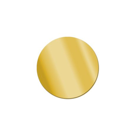 Miroir acrylique Rond Or 3 mm