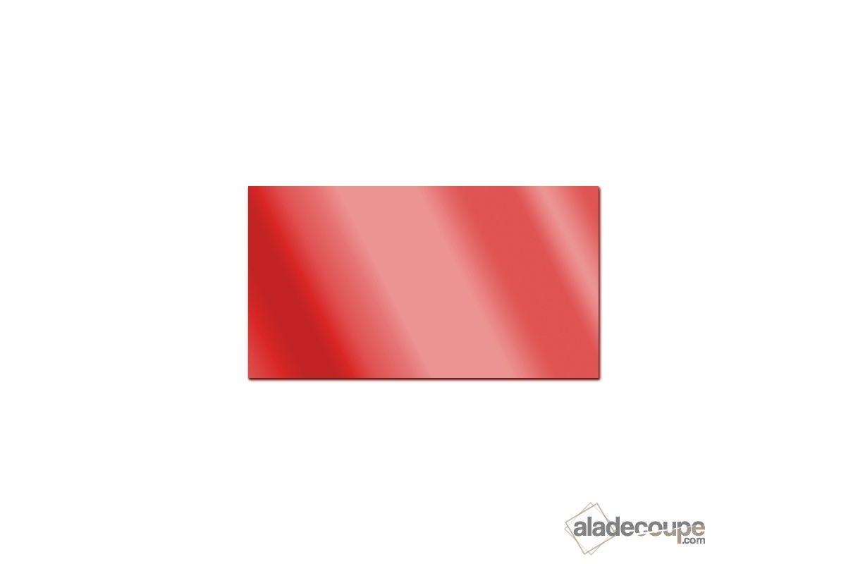 Miroir acrylique carr rectangle rouge 3 mm www for Polir aluminium miroir