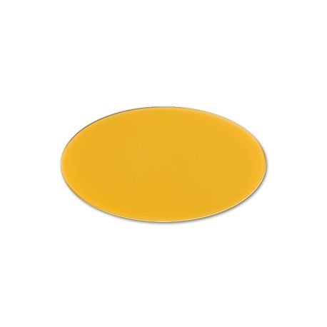 Oval Cast PMMA Yellow 3 mm