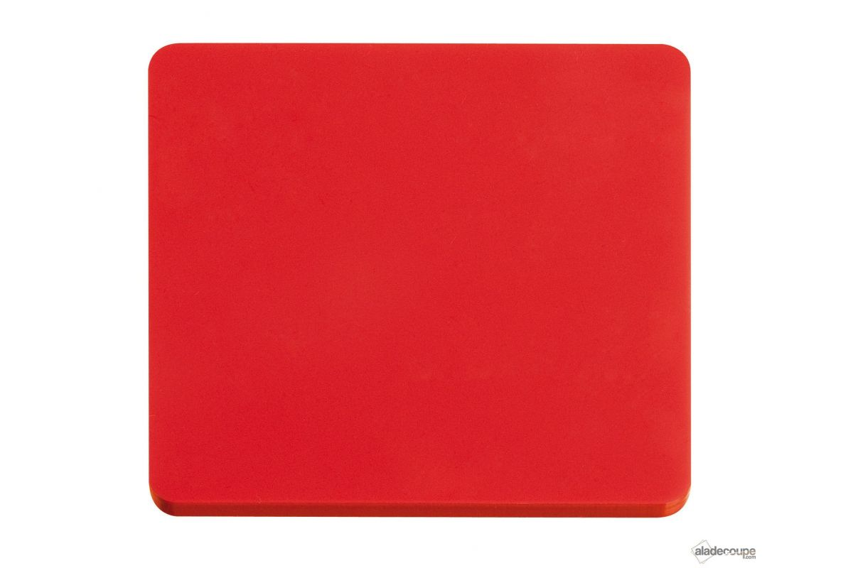 Pmma coul rond rouge 3 mm for Polir aluminium miroir