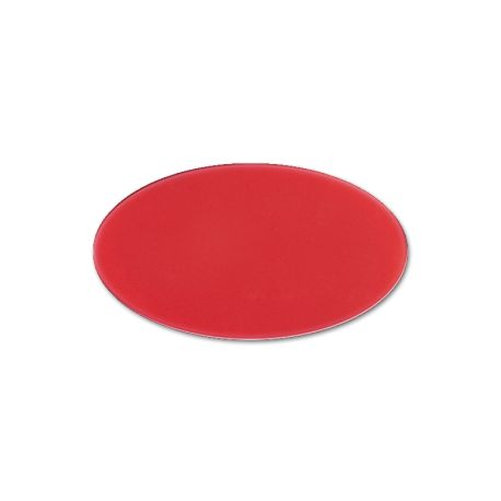 Oval Cast PMMA Red 3 mm