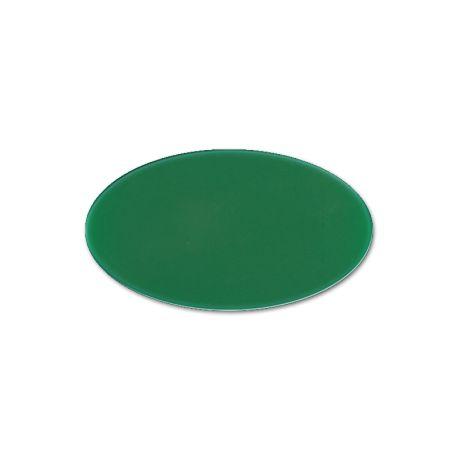Oval Cast PMMA Green 3 mm