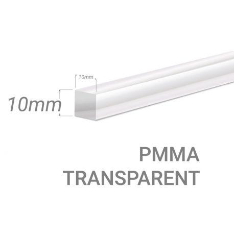 Barre carré PMMA Incolore