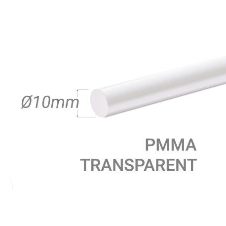 Bâton PMMA Incolore Diam. 10mm