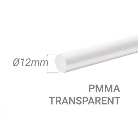 Bâton PMMA Incolore Diam. 12mm