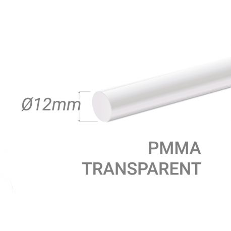Colorless Acrylic Stick Diam.12mm