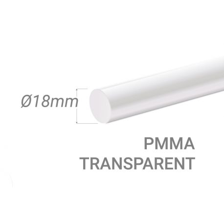 Colorless Acrylic Stick Diam.18mm