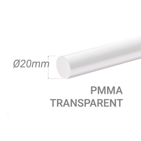 Bâton PMMA Incolore Diam. 20mm