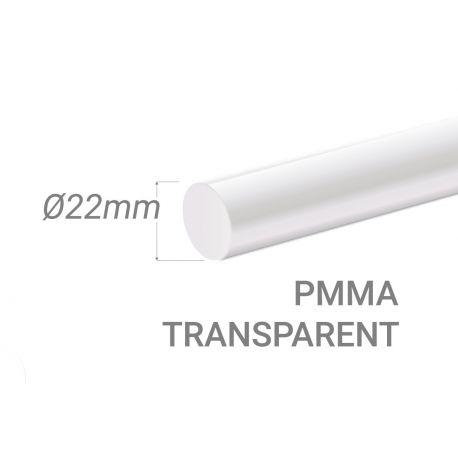 Bâton PMMA Incolore Diam. 22mm