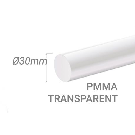 Colorless Acrylic Stick Diam.30mm