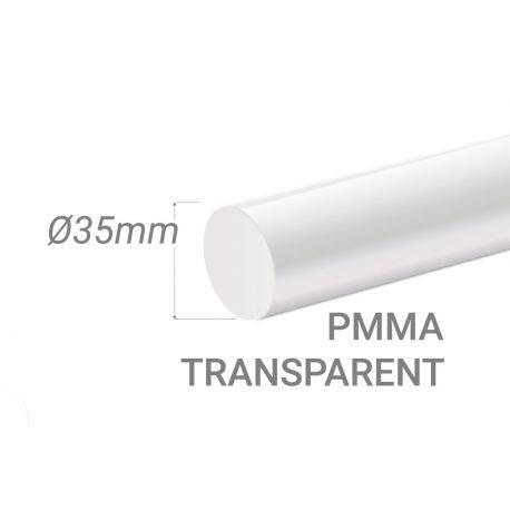 Colorless Acrylic Stick Diam.35mm