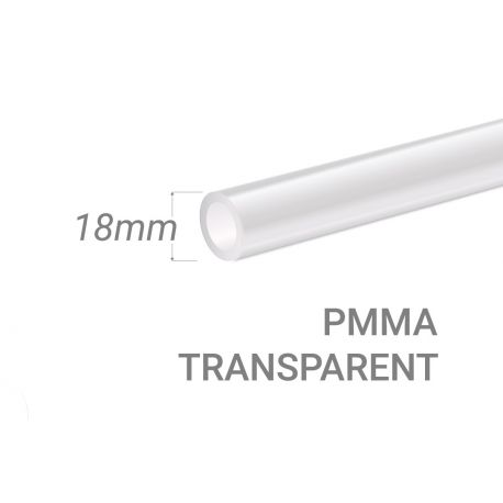 Clear PMMA Tube 18x3mm