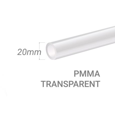 Clear PMMA Tube 20x3mm