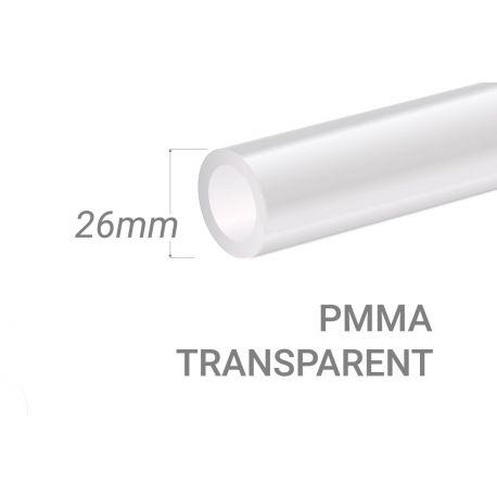 Clear PMMA Tube 15x3mm