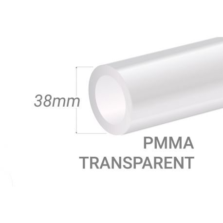 Clear PMMA Tube 15x3mm