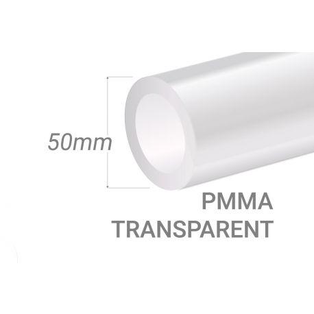 Clear PMMA Tube 50x3mm