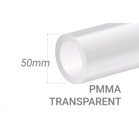 Clear PMMA Tube 50x5mm