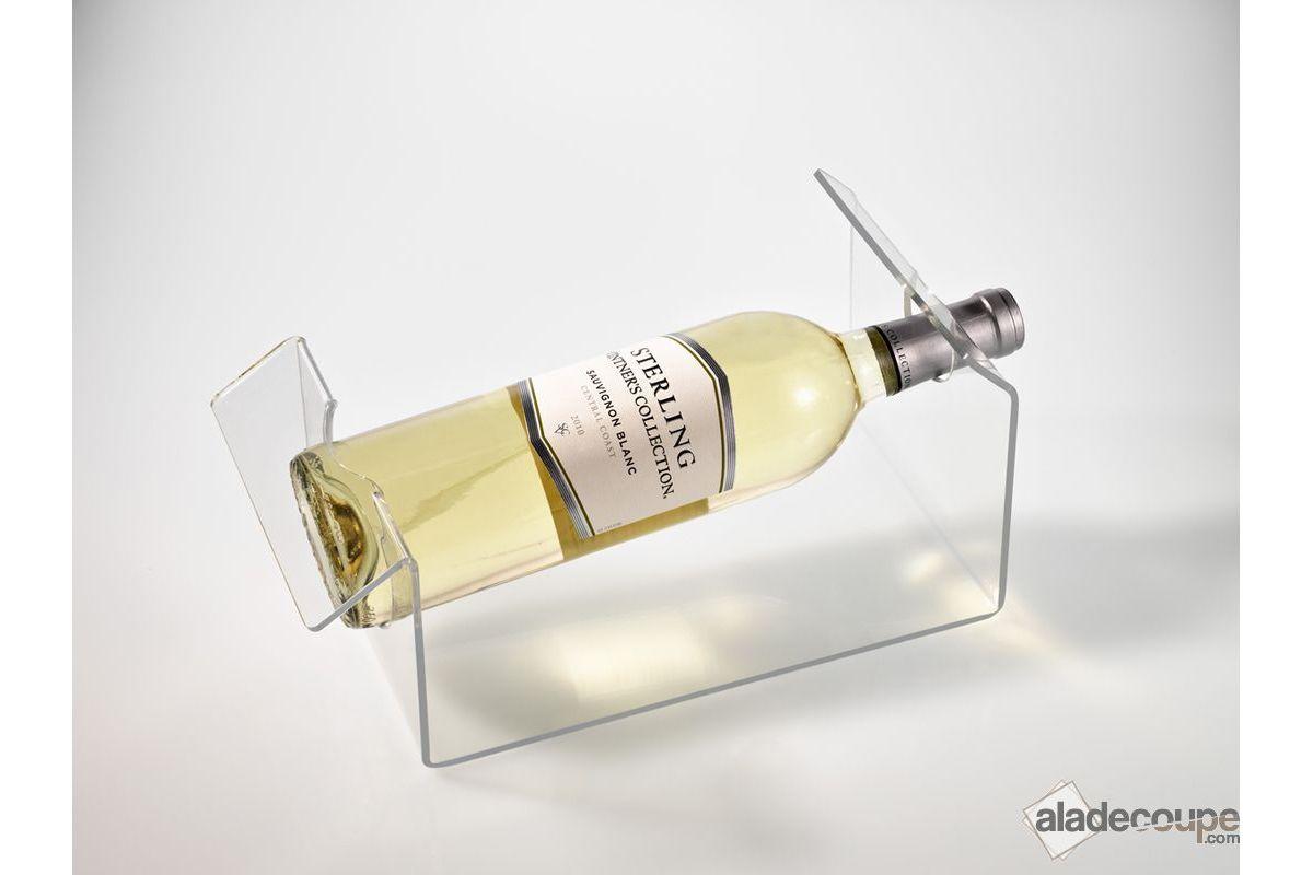 Pote-bouteille transparent en verre acrylique