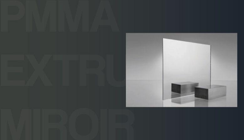 PMMA Extrudé Miroir épaisseur 3 mm, le standard de miroir en acrylique PMMA (type Plexiglas, Plexi) sur-mesure